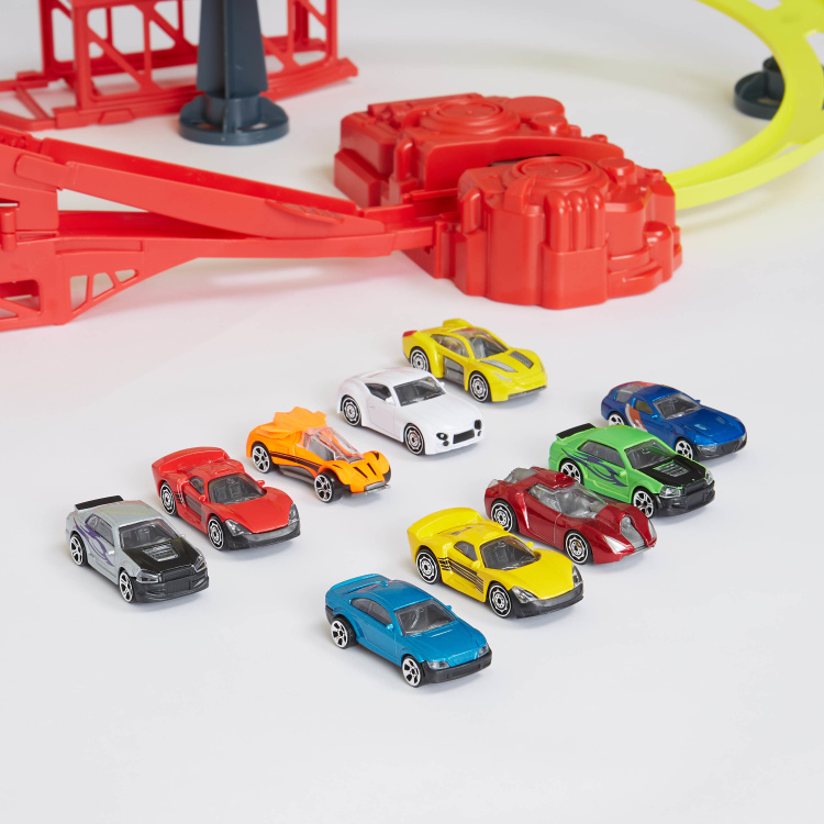 Teamsterz Typhoon 10-Piece Car Toy Playset