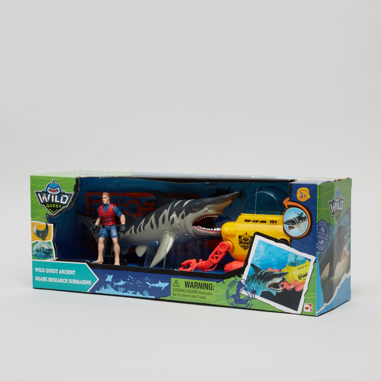 Wild Quest Ancient Shark Research Submarine Playset