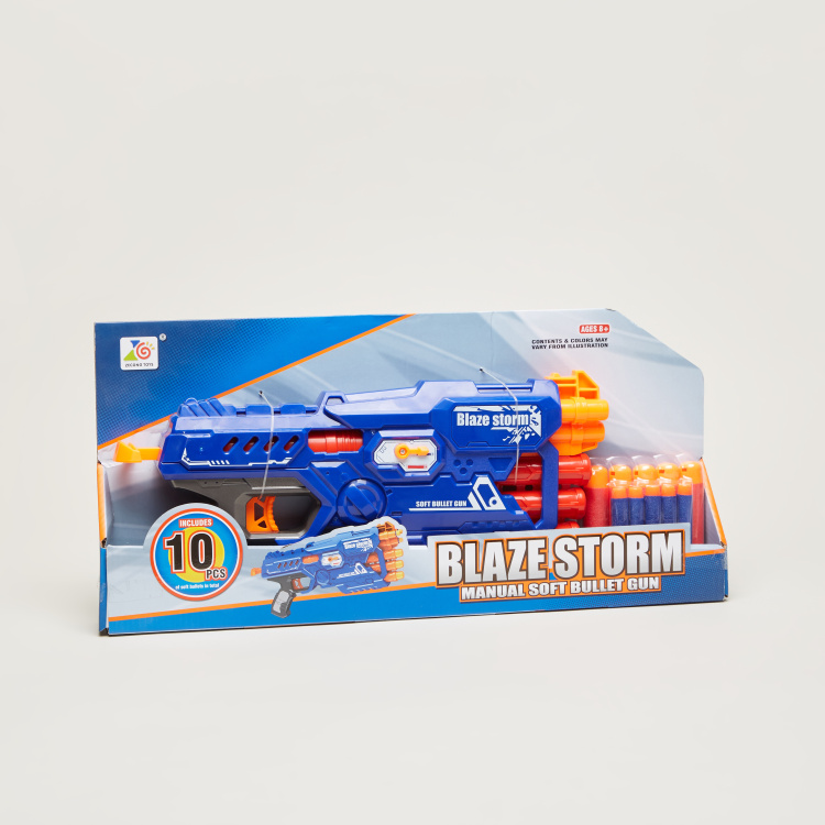 Blaze Storm Manual Soft Bullet Dart Gun Toy Set