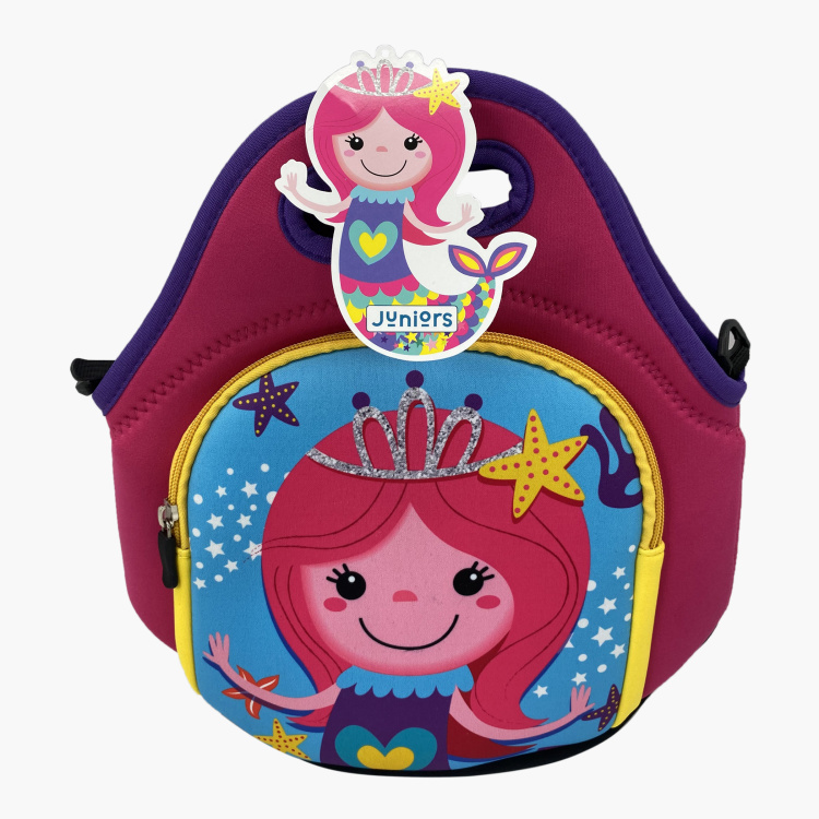 Juniors Printed Lunch Bag with Strap and Zip Closure