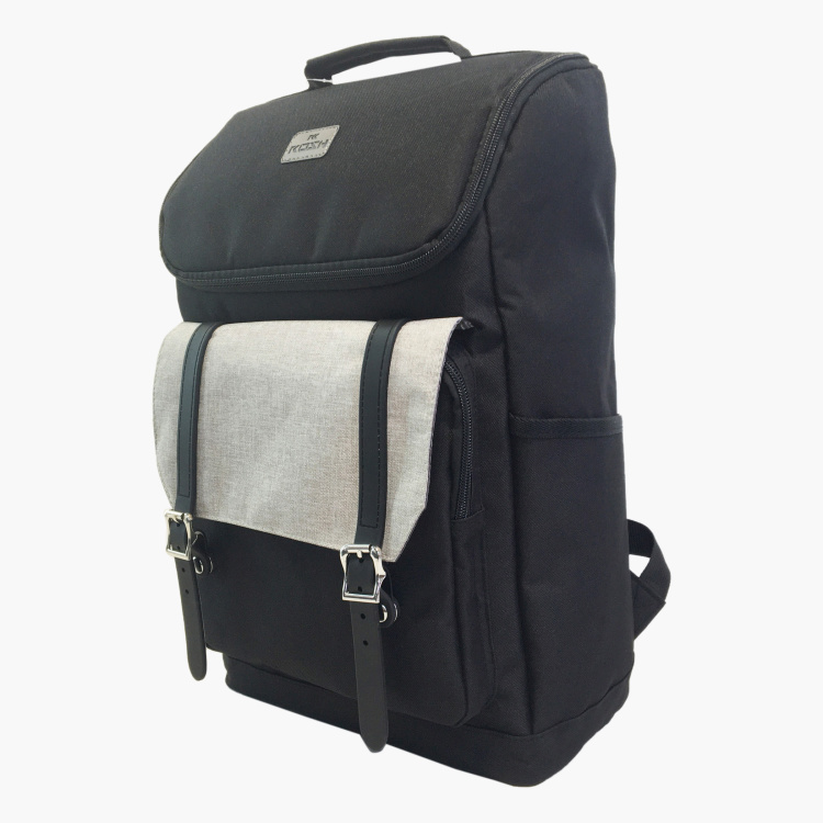 Juniors Textured Laptop Backpack with Top Handle