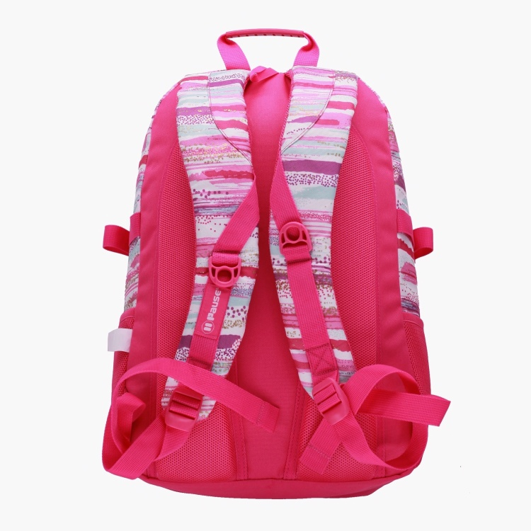 Pause Printed Backpack with Adjustable Shoulder Straps - 18 inches