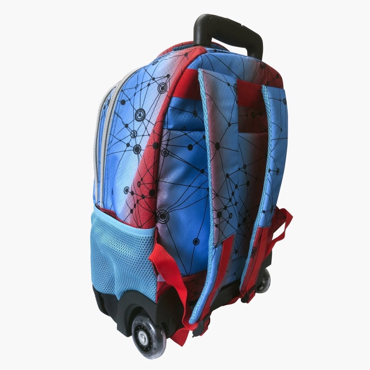 Superup Tech Printed Trolley Bag - 18 inches