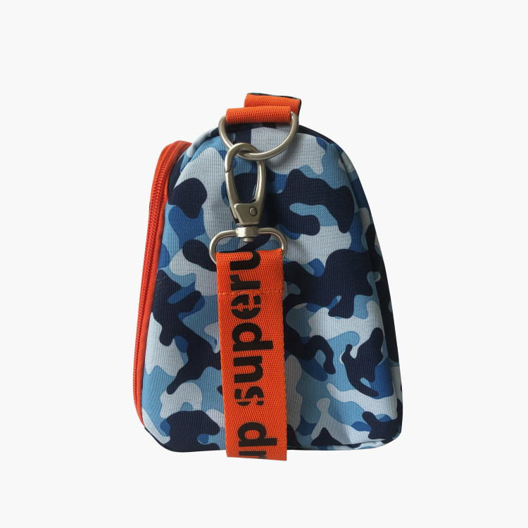 Busquets Camouflage Print Lunch Bag with Strap and Zip Closure