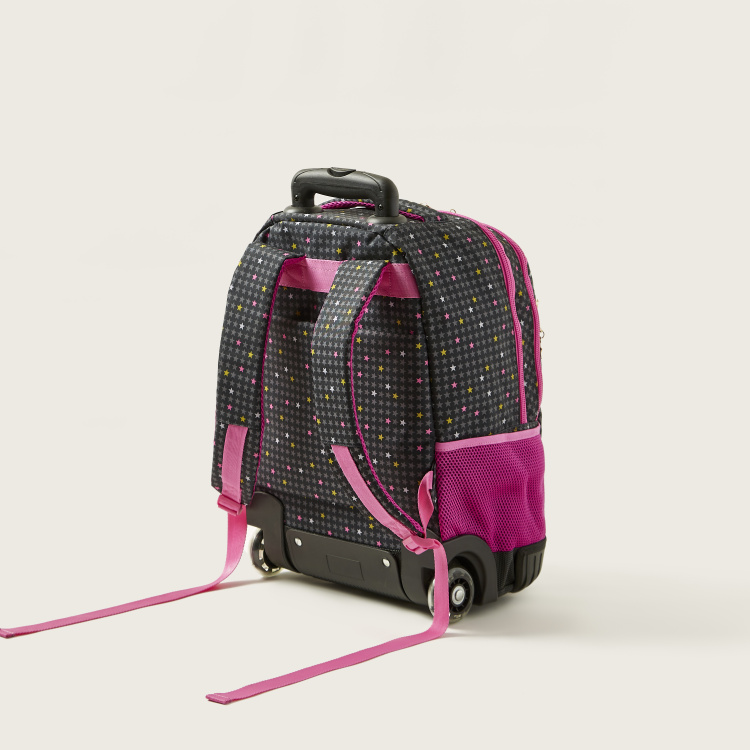 Busquets Star Print Trolley Backpack with Adjustbale Shoulder Straps