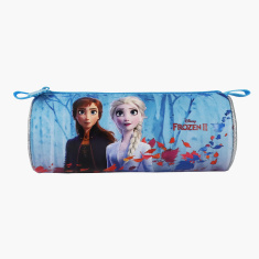 Disney Frozen Print Pencil Case with Zip Closure