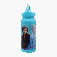 Disney Frozen Print Water Bottle with Straw