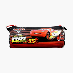 Disney Cars Print Pencil Case with Zip Closure