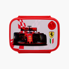 Ferrari Print Lunchbox with Clip On Closure