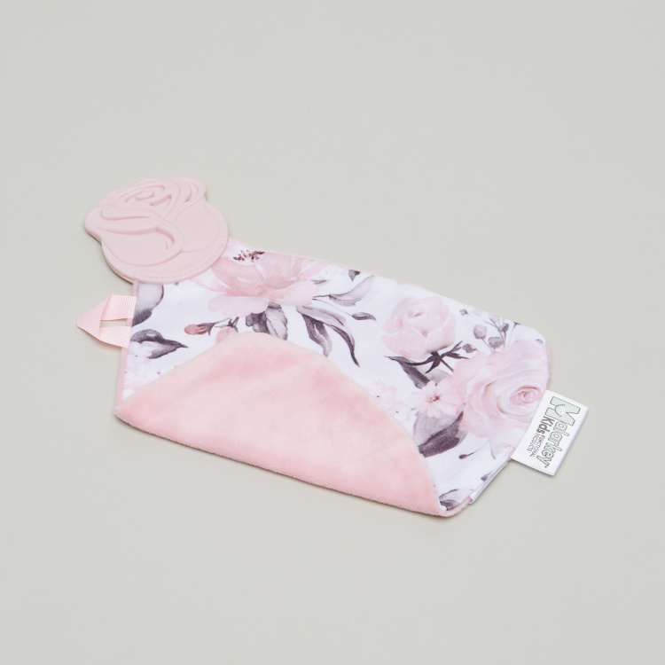 Malarkey Kids Floral Print Blanket with Teether