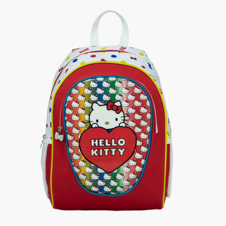Hello Kitty Print Backpack - 14 inches