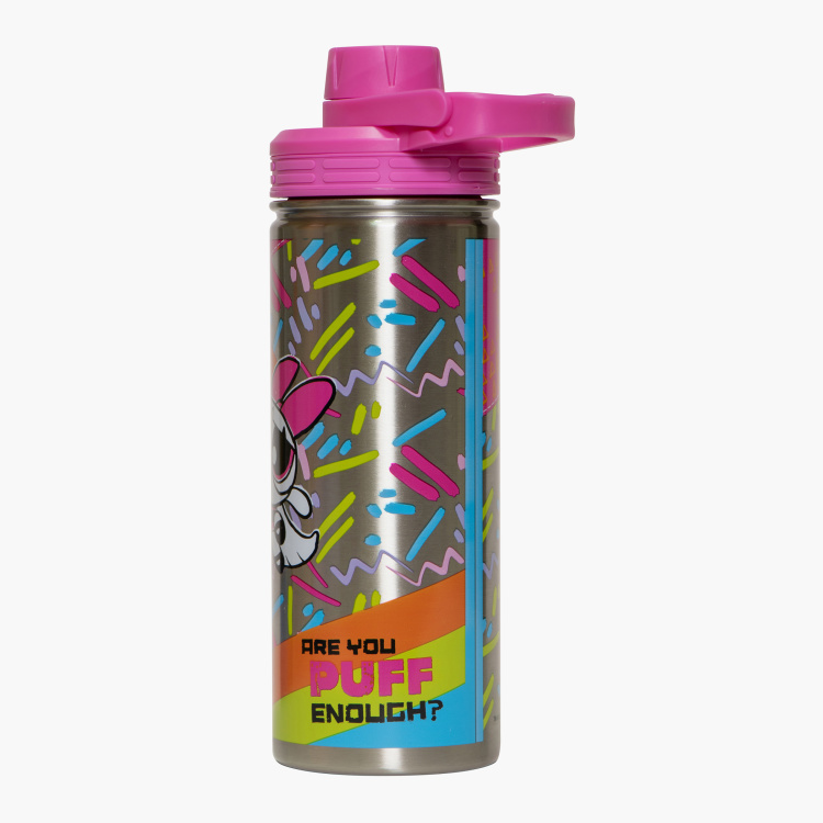 The Powerpuff Girls Print Water Bottle with Lid - 600 ml