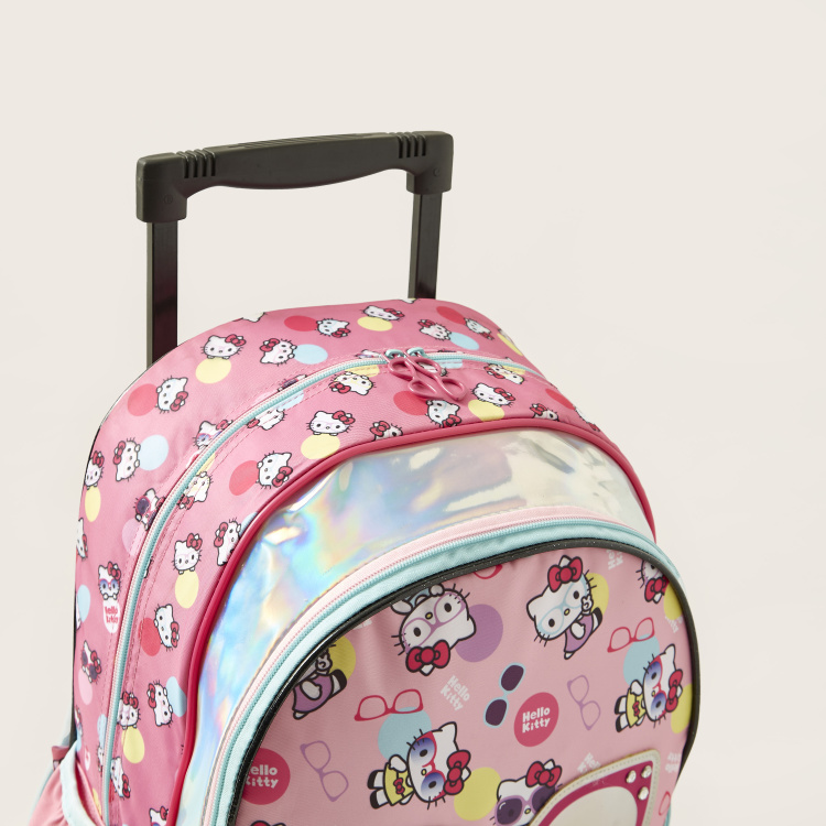 Hello Kitty Print Trolley Bag - 16 inches