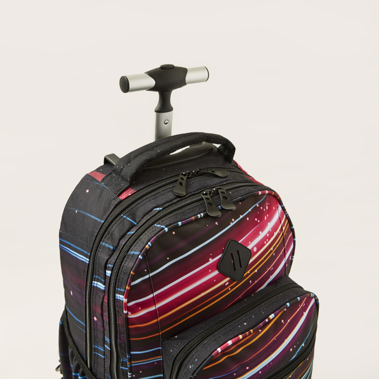 Toretto Printed Trolley Backpack with Pencil Case - 14 inches