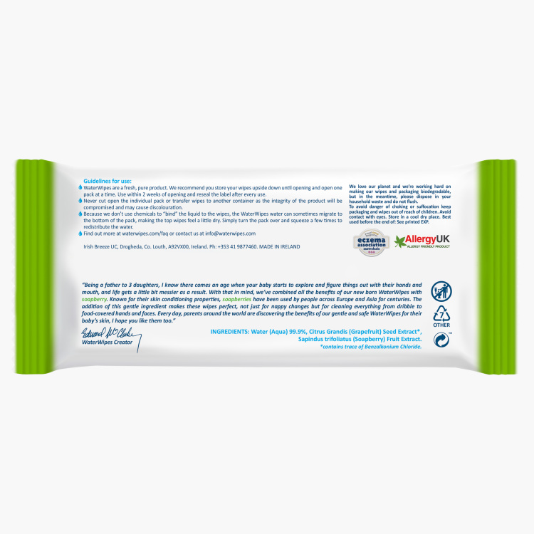 WaterWipes Soapberry Wipes 60 Sheets