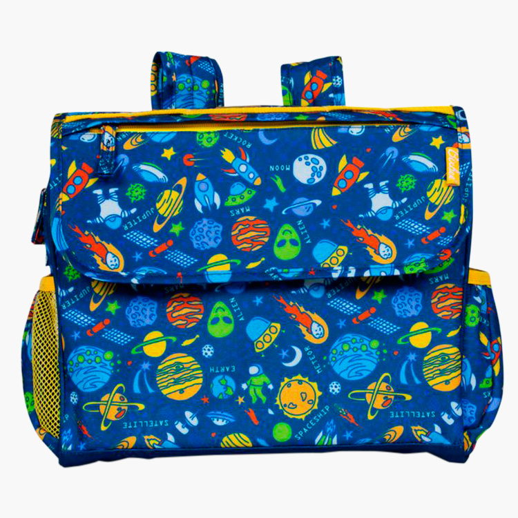 Bixbeee Printed Backpack with Lunchbox