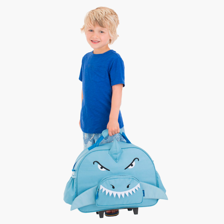 Bixbee Animal Pack Shark Print Trolley Bag