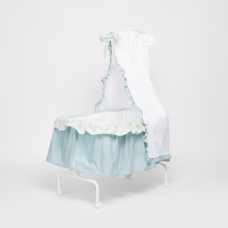 Juniors Printed Bassinet with Canopy