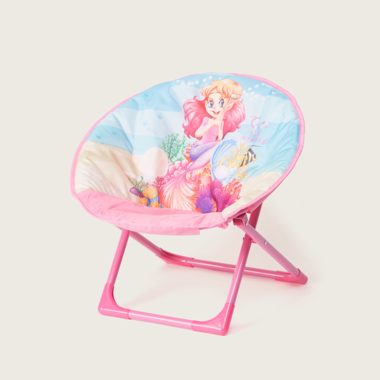 Juniors Mermaid Print Moon Chair