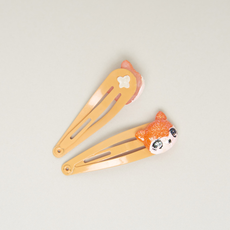 Charmz Applique Detail Hairpins - Set of 2
