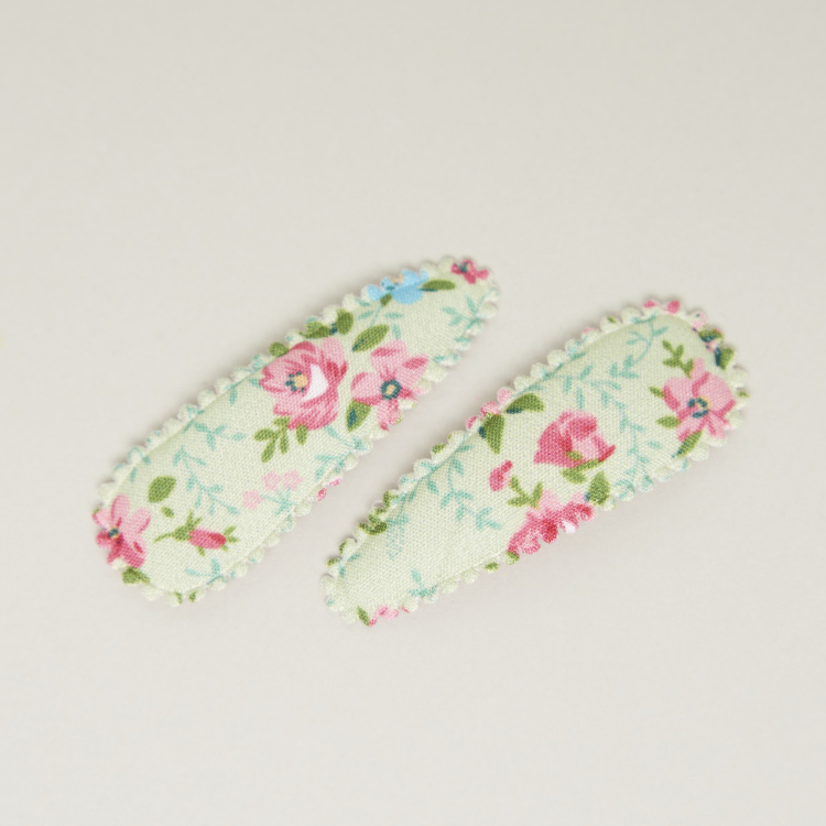 Charmz Floral Print Hairpins - Set of 2