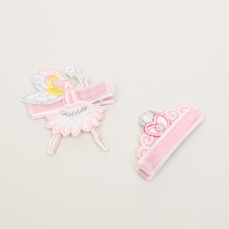 Charmz Applique Detail Hair Clips - Pack of 2