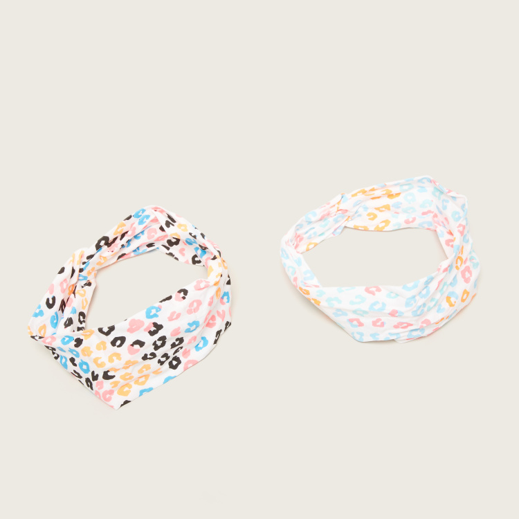 Charmz Leopard Print Hairband - Pack of 2