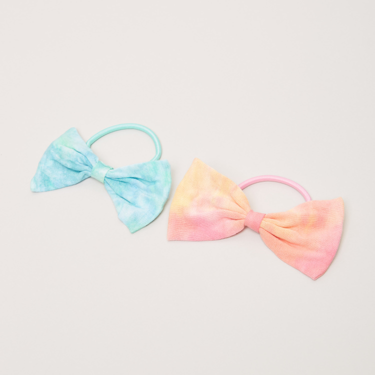 Charmz Bow Applique Detail Hair Ties - Set of 2