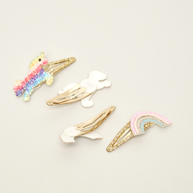 Charmz 4-Piece Hair Clip Set