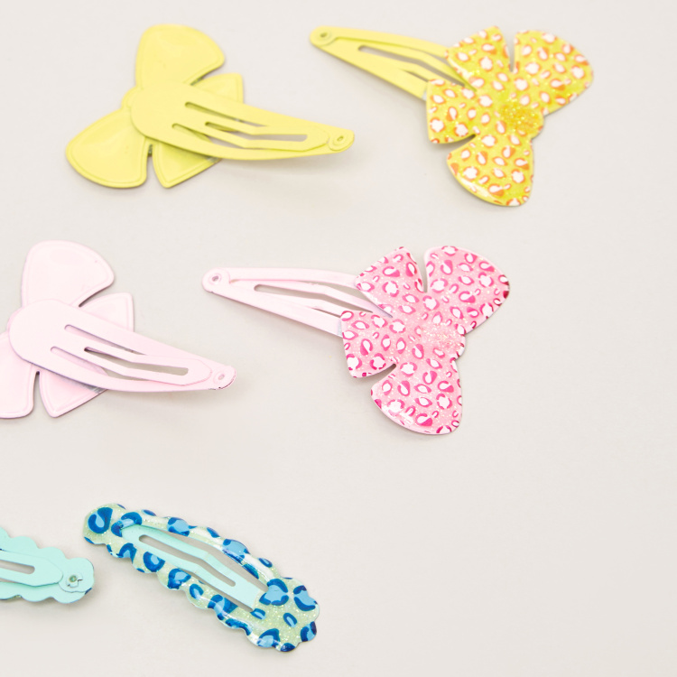 Charmz Printed Hairpins - Set of 4