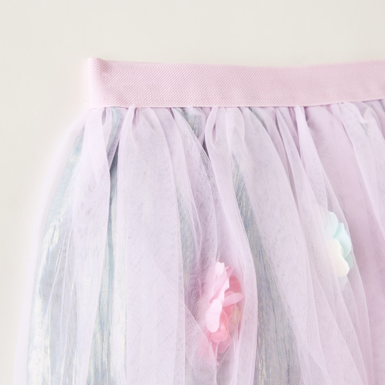 Charmz Floral Petticoat Skirt with Elasticated Waistband