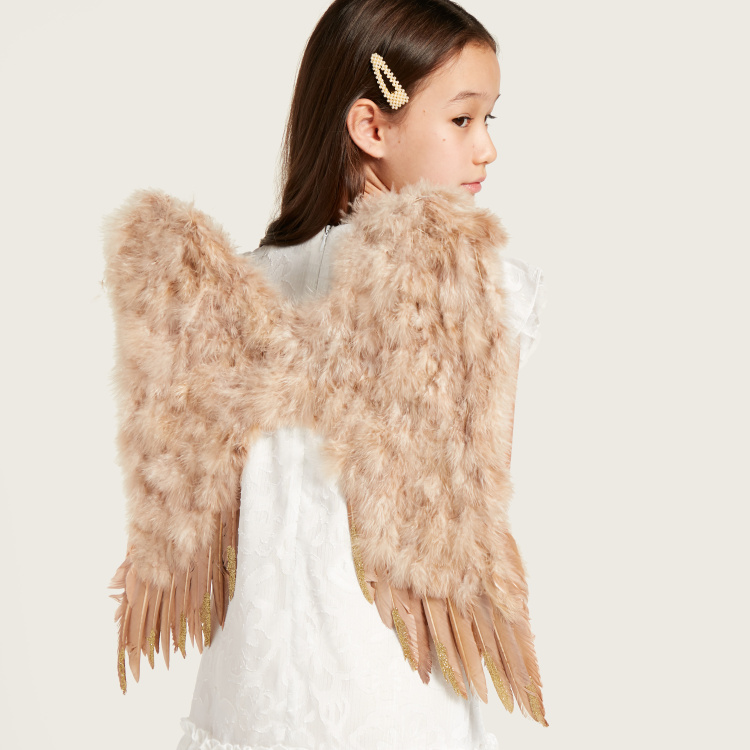 Charmz Plush Detail Wings with Straps
