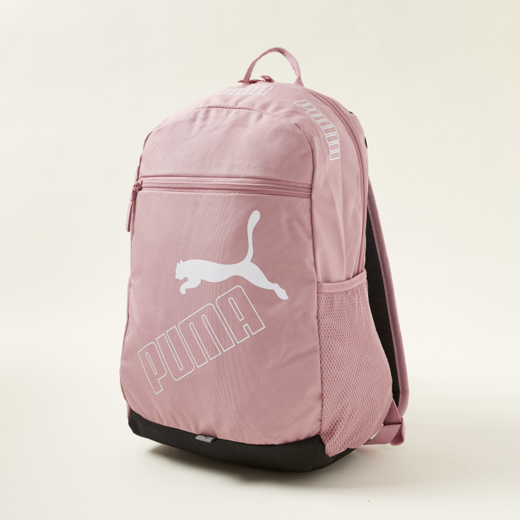 PUMA Print Phase Backpack with Zip Closure