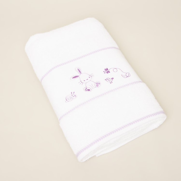 Juniors Nature Themed Emrboidered Cotton Towel - 60x120 cms