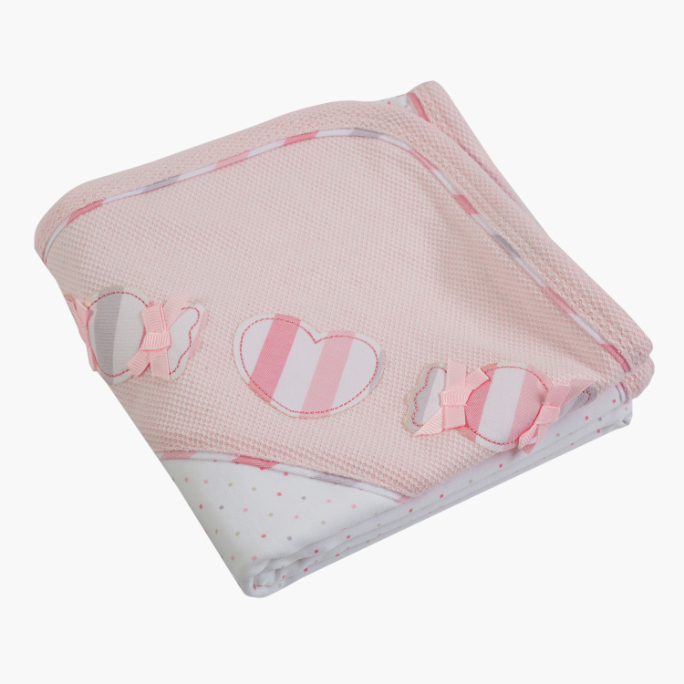 Giggles Printed Receiving Blanket - 70x70 cms