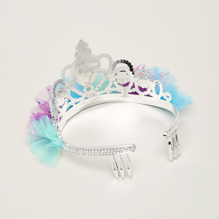 Charmz Studded Princess Tiara with Mesh Detail