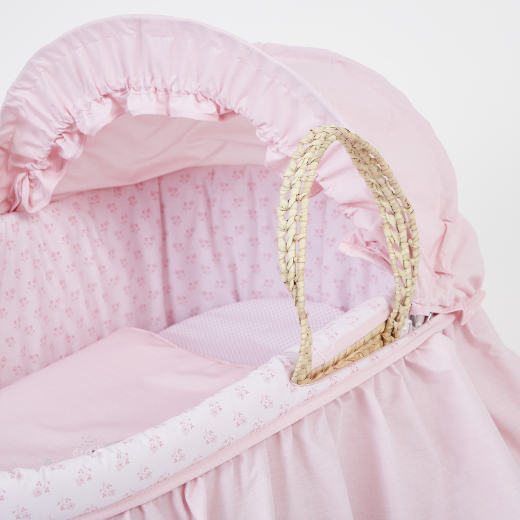 Cambrass Carry Cot with Ruffle Detail