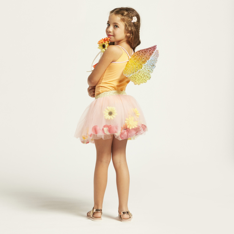 Charmz Butterfly Print Wings with Floral Princess Wand