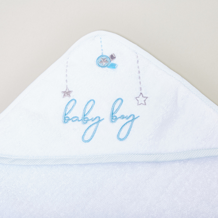 Giggles Hooded Embroidered Towel - 75x75 cms