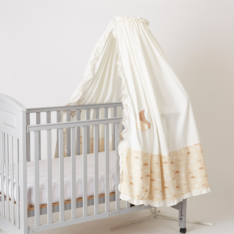 Juniors Dream Big Print Canopy with Embroidered and Ruffle Detail