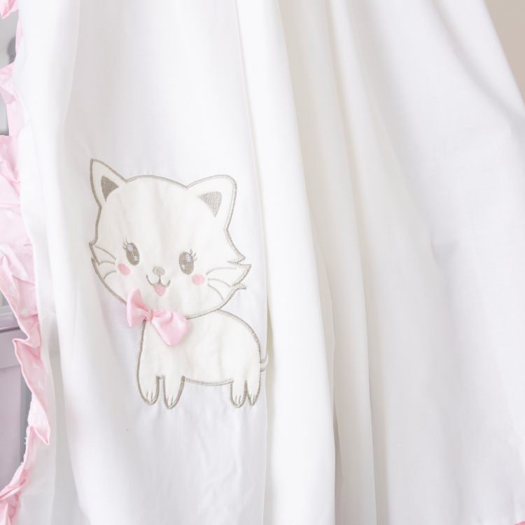 Juniors Cat Embroidered Detail Canopy