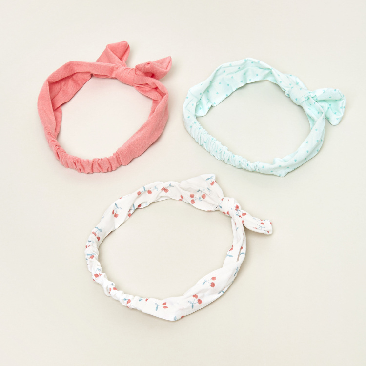 Charmz Assorted Hair Band with Bow Detail - Set of 3