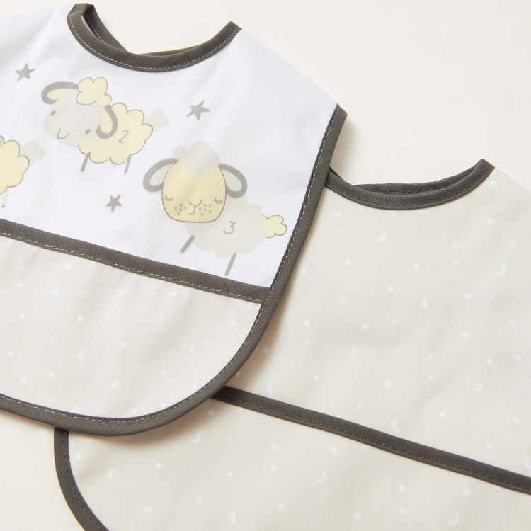 Juniors Sheep Print Bib - Set of 2