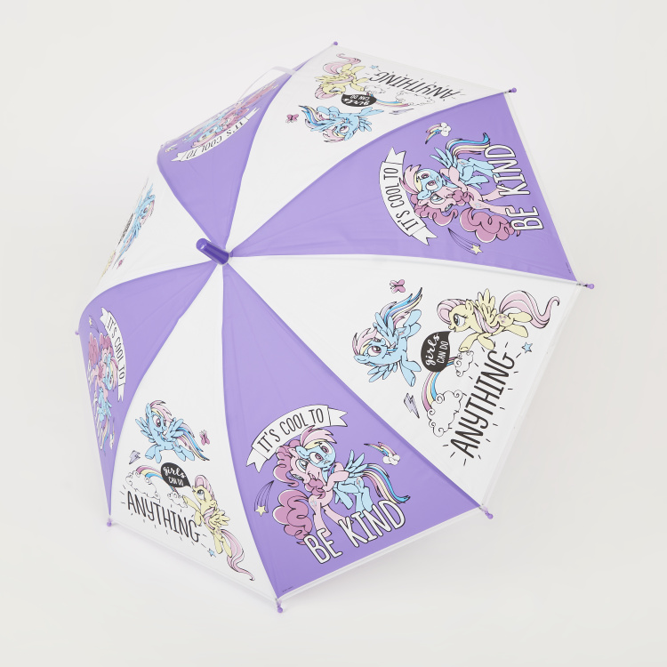 My Little Pony Graphic Print Umbrella with Curved Handle