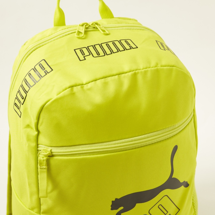 PUMA Logo Print Backpack with Adjustable Straps