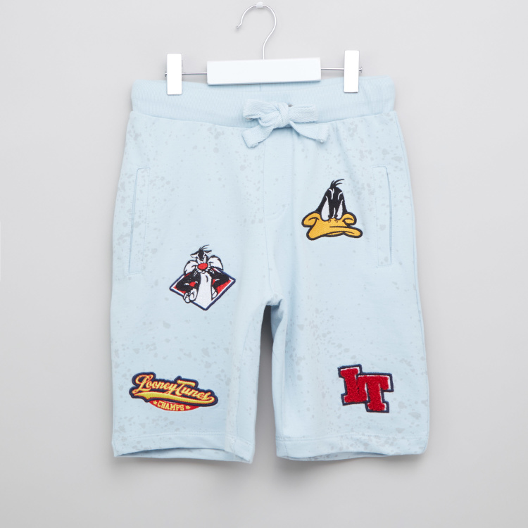 Iconic Looney Tunes Embroidered Patch Shorts