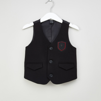 Iconic Embroidered Waistcoat with Pocket Detail