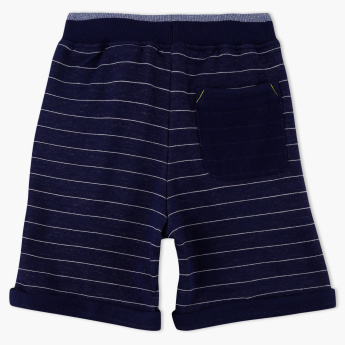 Bossini Striped Shorts with Elasticised Waistband