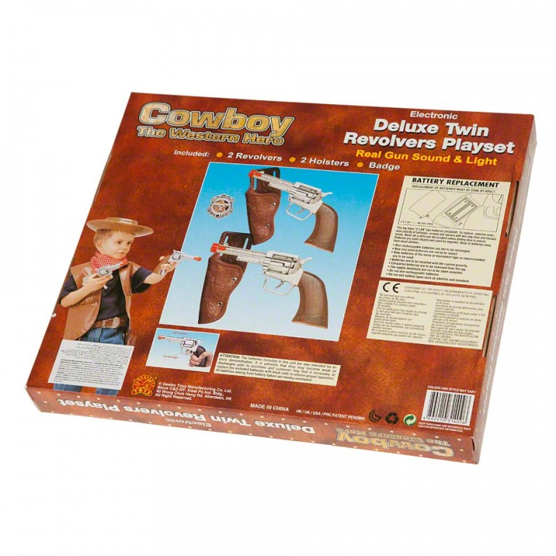 Cowboy Deluxe Twin Revolvers Play Set