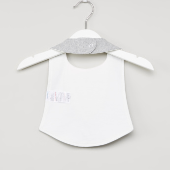 Juniors Bow and Button Detail Bib with Snap Button Closure